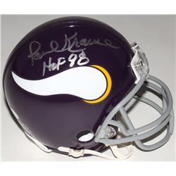 "Paul Krause Signed Vikings Mini-Helmet Inscribed ""HOF 98"" (JSA COA)"