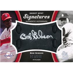2008 Sweet Spot Signatures Black Glove Leather Silver Ink #SBG Bob Gibson #107/150