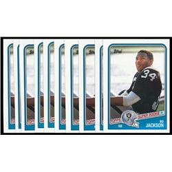 Lot of (10) 1988 Topps #327 Bo Jackson SR RC