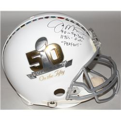 """Joe Montana Signed LE Super Bowl 50 """"On The Fifty"""" Full-Size Authentic On-Field Helmet with (3) Care"""
