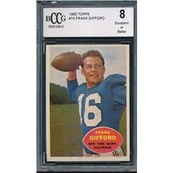 1960 Topps #74 Frank Gifford (BCCG 8)