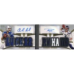 2015 Topps Triple Threads Autographed Relic Pairs #TTARP24 Russell Wilson / Andrew Luck #33/36