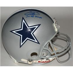 """Emmitt Smith Signed Cowboys Full-Size Authentic On-Field Helmet Inscribed """"3X SB Champs"""" (Upper Deck"""
