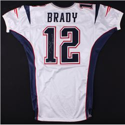 "2001 Tom Brady Signed Patriots Game-Used Jersey Inscribed ""SB 36 MVP"" (Mears LOA  TriStar Hologram)"