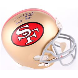 "Jerry Rice Signed 49ers Full Size Authentic On-Field Helmet Inscribed ""HOF 2010"" (Rice Hologram)"