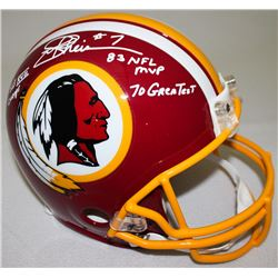"Joe Theismann Signed Redskins Full-Size Authentic On-Field Helmet Inscribed ""SB XVII Champs,"" ""83 NF"