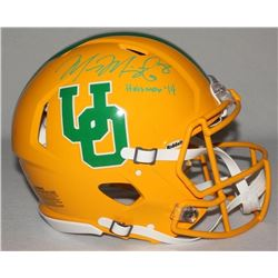 "Marcus Mariota Signed LE Oregon Ducks Full-Size Authentic On-Field Throwback Helmet Inscribed ""Heism"