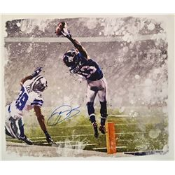 "Odell Beckham Jr. Signed Giants ""The Catch"" 22x26 Photo on Canvas (Steiner COA)"
