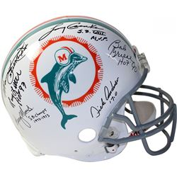 1972 Dolphins Full-Size Authentic On-Field Helmet Team-Signed by (6) with Bob Griese, Larry Csonka,