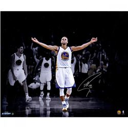 Stephen Curry Signed Warriors LE 20x24 Photo (Steiner COA)