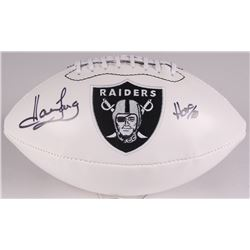 "Howie Long Signed Raiders Logo Football Inscribed ""HOF 00"" (JSA COA)"