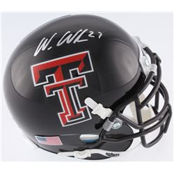 Wes Welker Signed Texas Tech Red Raiders Mini Helmet (Fanatics Hologram)