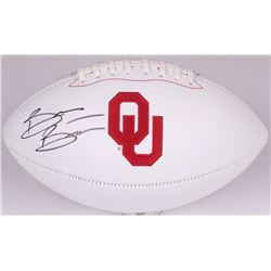 Brian Bosworth Signed Oklahoma Sooners Logo Football (JSA COA)