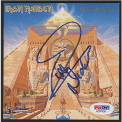 "Nicko McBrain Signed Iron Maiden ""Powerslave"" CD Album Booklet (PSA COA)"