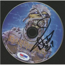 "Nicko McBrain Signed Iron Maiden ""Powerslave"" CD Disc (PSA Hologram)"