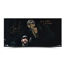 """Kevin Love Signed LE Cavaliers """"Enduring"""" 30"""" x 15"""" Photo Inscribed """"2016 NBA Champs"""" (UDA COA)"""