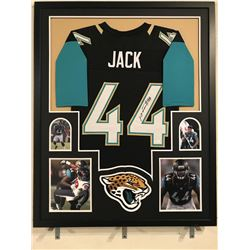Myles Jack Signed Jaguars 34x42 Custom Framed Jersey Display (JSA COA)