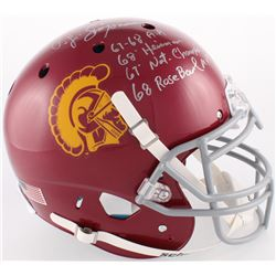 O. J. Simpson Signed USC Trojans Full-Size Authentic On-Field Helmet With Multiple Inscriptions (JSA