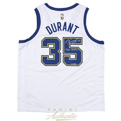 """Kevin Durant Signed LE Warriors Throwback Jersey Inscribed """"Dub Nation"""" (Panini COA)"""