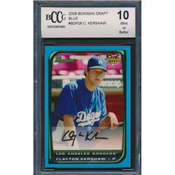 2008 Bowman Chrome Draft #BDP26 Clayton Kershaw RC (BCCG 10)