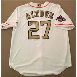 "Jose Altuve Signed Astros Jersey Inscribed ""17 WS Champs"" (Fanatics Hologram)"