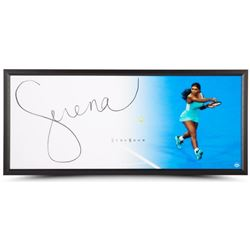 "Serena Williams Signed ""Backhand"" 20x46 Photo Framed Display (UDA COA)"