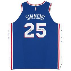 """Ben Simmons Signed LE 76ers Jersey Inscribed """"Debut 10/18/17"""" (UDA COA)"""