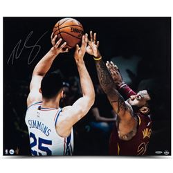 "Ben Simmons Signed 76ers ""Matchup"" 20x24 Photo (UDA COA)"