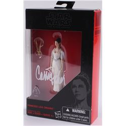 "Carrie Fisher Signed ""Leia Organa"" Star Wars: The Black Series Action Figure (Radtke COA)"