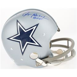 "Roger Staubach Signed Cowboys TK Suspension Full-Size Helmet Inscribed ""HOF 85"" (TriStar COA)"