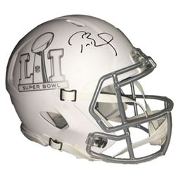Tom Brady Signed Super Bowl 51 Limited Edition Custom Matte White ICE Authentic On-Field Speed Helme
