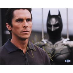 "Christian Bale Signed ""The Dark Knight"" 11x14 Photo (Beckett COA)"