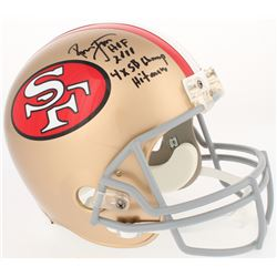 "Ronnie Lott Signed 49ers Full-Size Throwback Helmet Inscribed ""HOF 2000,"" ""4X SB Champ,""  ""Hitman"" ("