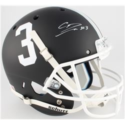 Calvin Ridley Signed Alabama Crimson Tide Custom Matte Black Full-Size Helmet (Radtke COA)