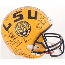 LSU Tigers Full-Size Helmet Signed by (12) with Bill Cannon, Alley Broussard, Ron Estay, Justin Vinc