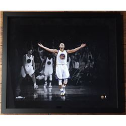 "Stephen Curry Signed Warriors ""3 Point Celebration"" 20x24 Custom Framed Limited Edition Photo (Stein"