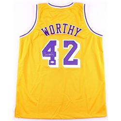 James Worthy Signed Lakers Jersey (JSA COA)