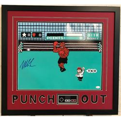 """Mike Tyson Signed """"Punch Out"""" 23x29 Custom Framed Photo Display (JSA COA)"""
