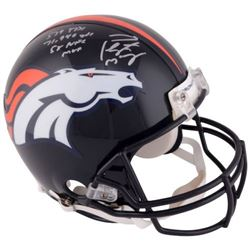 """Peyton Manning Signed Broncos Full-Size Authentic On-Field Helmet Inscribed """"539 TDS"""", """"71,940 Yards"""
