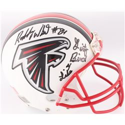 """Roddy White Signed Falcons Full-Size Authentic On-Field Helmet Inscribed """"Dirty Bird 4 Life"""" (JSA CO"""