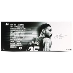 """Ben Simmons Signed 76ers """"Deliver"""" 15x36 Limited Edition Photo (UDA COA)"""