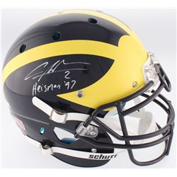 """Charles Woodson Signed Michigan Wolverines Full-Size Authentic On-Field Helmet Inscribed """"Heisman 97"""