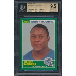 1989 Score #257 Barry Sanders RC (BGS 9.5)