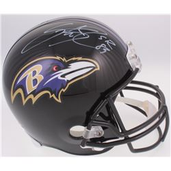 Steve Smith Sr. Signed Ravens Full-Size Helmet (Smith COA)