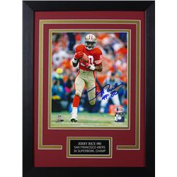 Jerry Rice Signed 49ers Steelers 14x18.5 Custom Framed Photo Display (Beckett COA)