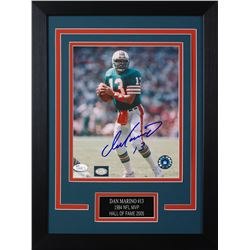 Dan Marino Signed 49ers Dolphins 14x18.5 Custom Framed Photo Display (JSA COA)