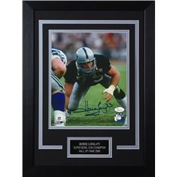 Howie Long Signed Raiders 14x18.5 Custom Framed Photo Display (JSA COA)