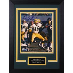 "Bart Starr Signed Packers 14x18.5 Custom Framed Photo Display Inscribed ""2x SB MVP"" (TriStar Hologra"