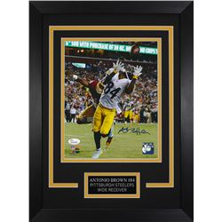 Antonio Brown Signed Steelers 14x18.5 Custom Framed Photo Display (JSA COA)