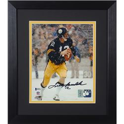Terry Bradshaw Signed Steelers 13.75x15.5 Custom Framed Photo Display (Beckett COA  Bradshaw Hologra